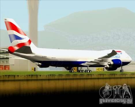 Boeing 747-8 Cargo British Airways World Cargo для GTA San Andreas двигатель