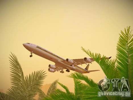 Airbus A340-600 Singapore Airlines для GTA San Andreas вид сбоку