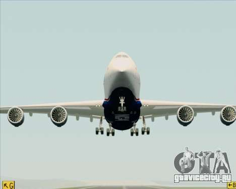 Boeing 747-8 Cargo Nippon Cargo Airlines для GTA San Andreas вид сверху