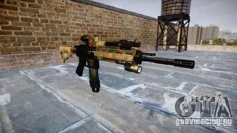 Автоматический карабин Colt M4A1 jungle для GTA 4