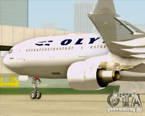 Airbus A330-300 Olympic Airlines для GTA San Andreas вид изнутри