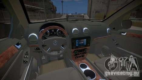 Mercedes-Benz GL450 AMG Police Interceptor 2013 для GTA 4 вид изнутри