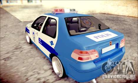 Fiat Albea Police Turkish для GTA San Andreas вид слева