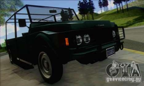 GTA V Canis Kalahari (IVF) для GTA San Andreas вид справа