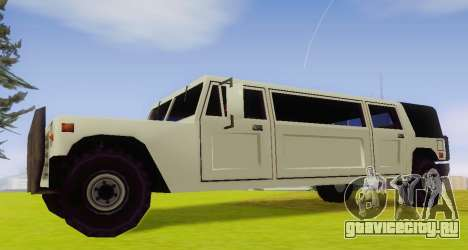 Patriot Limousine для GTA San Andreas вид слева