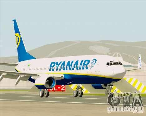 Boeing 737-8AS Ryanair для GTA San Andreas вид слева