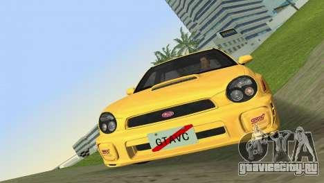 Subaru Impreza WRX 2002 Type 1 для GTA Vice City