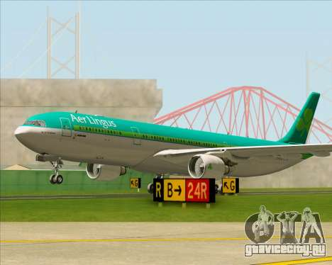 Airbus A330-300 Aer Lingus для GTA San Andreas вид сверху