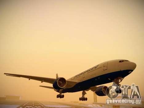 Boeing 777-212ER Transaero Airlines для GTA San Andreas вид слева