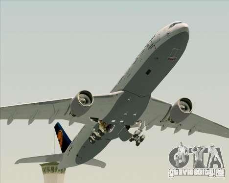 Airbus A330-300 Lufthansa для GTA San Andreas вид снизу