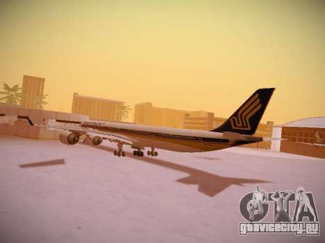 Airbus A340-600 Singapore Airlines для GTA San Andreas вид снизу