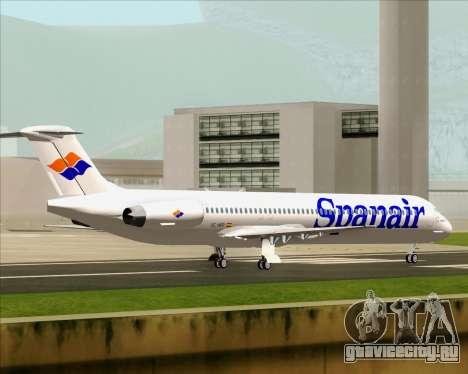 McDonnell Douglas MD-82 Spanair для GTA San Andreas вид изнутри