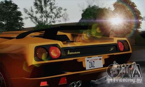 Lamborghini Diablo SV 1995 (HQLM) для GTA San Andreas вид сзади