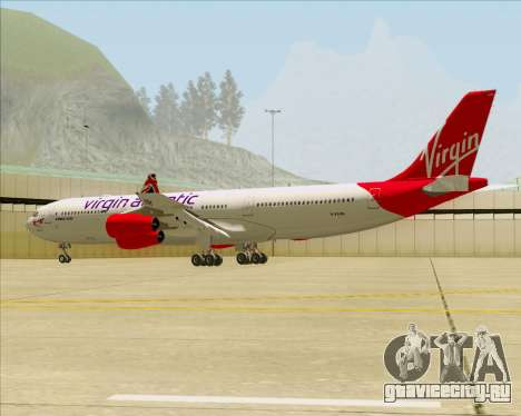 Airbus A340-313 Virgin Atlantic Airways для GTA San Andreas вид снизу