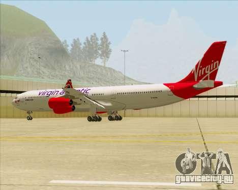 Airbus A340-313 Virgin Atlantic Airways для GTA San Andreas вид снизу