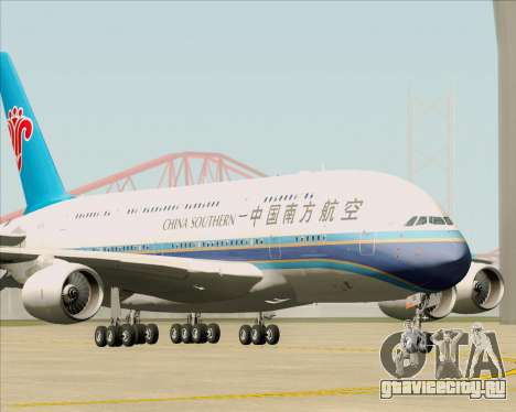 Airbus A380-841 China Southern Airlines для GTA San Andreas вид слева