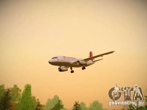 Airbus A319-132 Germanwings для GTA San Andreas салон
