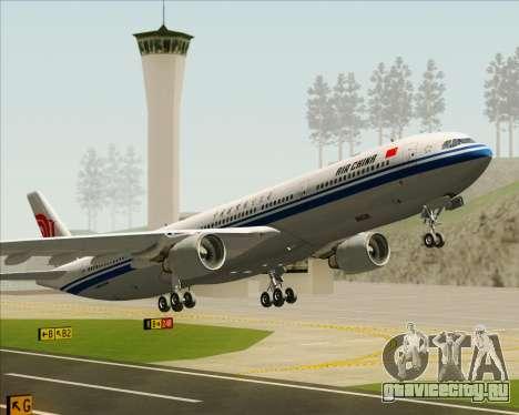 Airbus A330-300 Air China для GTA San Andreas колёса