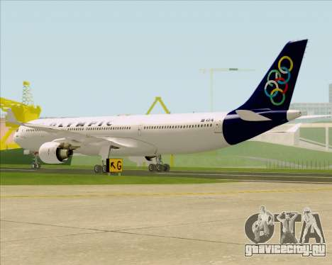 Airbus A330-300 Olympic Airlines для GTA San Andreas вид справа