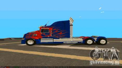 Peterbilt 379 Optimus Prime для GTA San Andreas вид слева