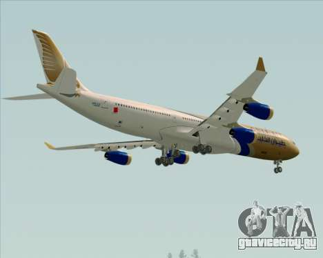 Airbus A340-313 Gulf Air для GTA San Andreas вид сверху