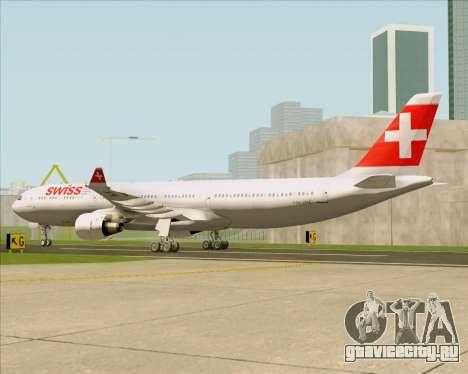 Airbus A330-300 Swiss International Air Lines для GTA San Andreas вид справа