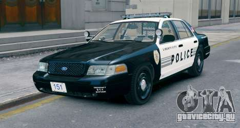 Ford Crown Victoria LCPD [ELS] No Pushbar для GTA 4
