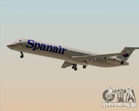 McDonnell Douglas MD-82 Spanair для GTA San Andreas вид справа