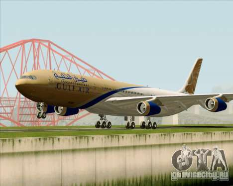 Airbus A340-313 Gulf Air для GTA San Andreas вид слева