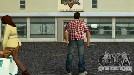 Kockas polo - piros T-Shirt для GTA Vice City второй скриншот