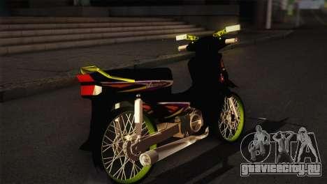 Honda Astrea для GTA San Andreas вид сзади слева