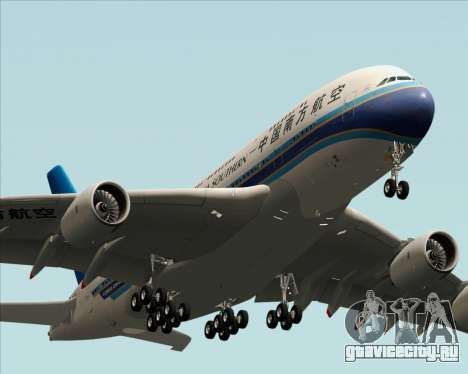 Airbus A380-841 China Southern Airlines для GTA San Andreas вид изнутри