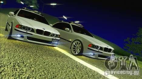 BMW M5 E39 2003 Stance для GTA San Andreas вид сзади