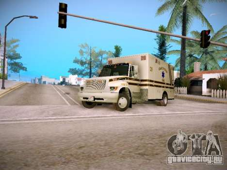 Pierce Commercial Grasonville Ambulance для GTA San Andreas вид слева
