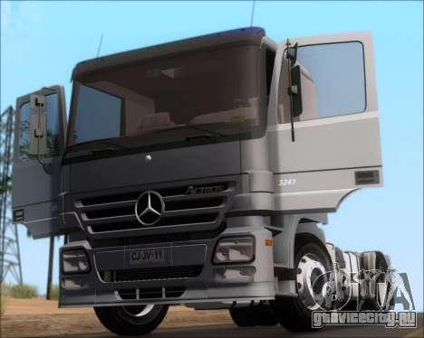 Mercedes-Benz Actros 3241 для GTA San Andreas вид изнутри