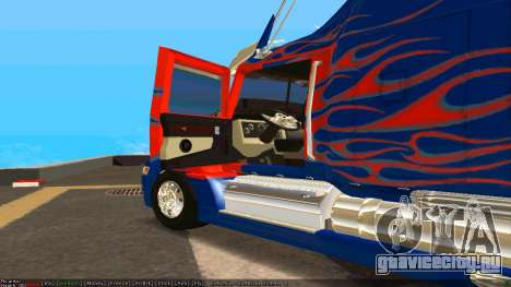 Peterbilt 379 Optimus Prime для GTA San Andreas вид сзади слева
