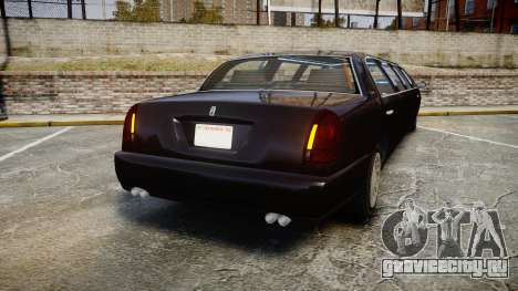 GTA V Albany Washington Limousine для GTA 4 вид сзади слева