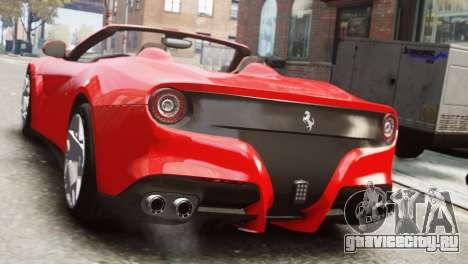 Ferrari F12 Roadster для GTA 4 вид слева
