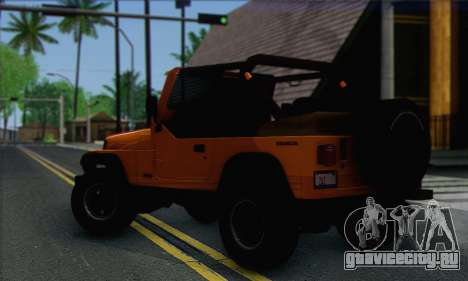 Jeep Wrangler для GTA San Andreas вид слева
