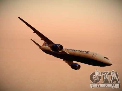 Boeing 777-212ER Transaero Airlines для GTA San Andreas двигатель