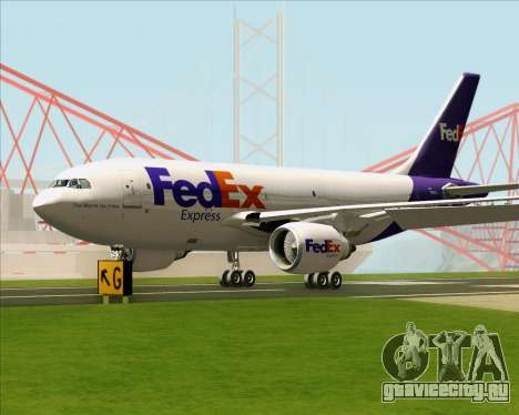 Airbus A310-300 Federal Express для GTA San Andreas вид сзади слева