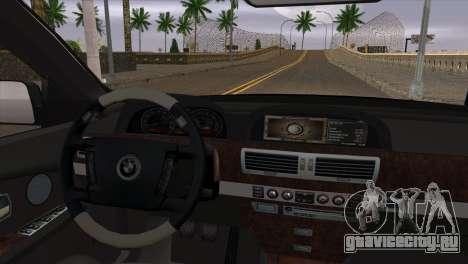 BMW E66 7-Series Limousine для GTA San Andreas вид справа