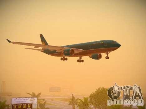 Airbus A330-200 Vietnam Airlines для GTA San Andreas вид снизу