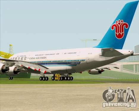 Airbus A380-841 China Southern Airlines для GTA San Andreas вид справа