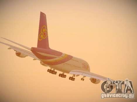 Airbus A380-800 Thai Airways International для GTA San Andreas вид сверху