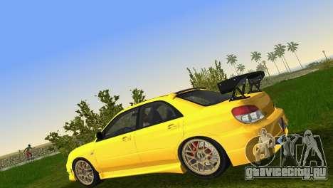 Subaru Impreza WRX STI 2006 Type 4 для GTA Vice City вид изнутри