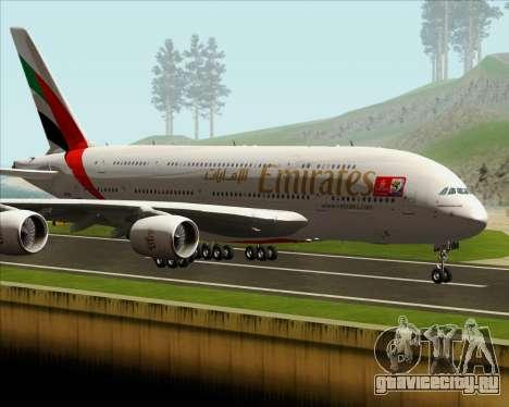 Airbus A380-841 Emirates для GTA San Andreas вид слева
