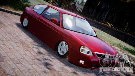 Lada Priora Coupe для GTA 4 вид изнутри