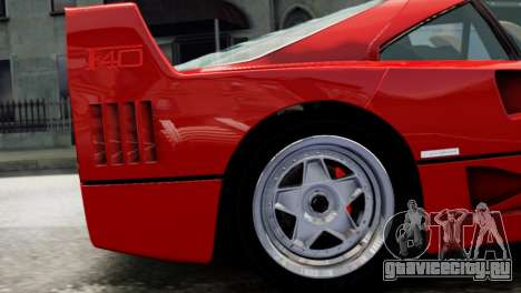 Ferrari F40 1987 для GTA 4 вид справа