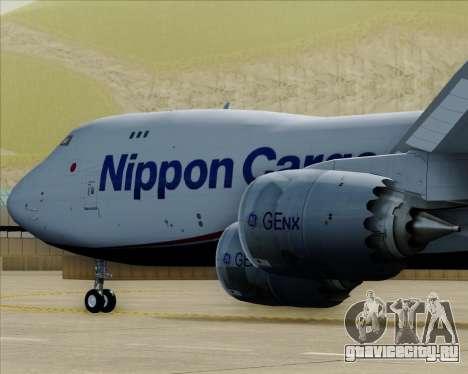 Boeing 747-8 Cargo Nippon Cargo Airlines для GTA San Andreas двигатель